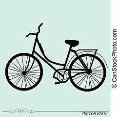 Vintage Retro Bicycle Background. Vector illustration.
