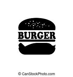 Vintage Retro Burger logo design