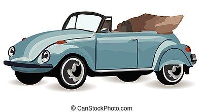 Vintage Retro car isolated