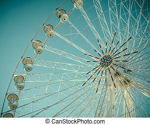 Vintage Retro Ferris Wheel Detail