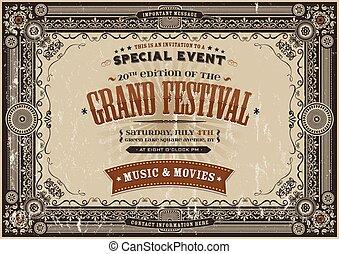 Vintage Retro Festival Poster