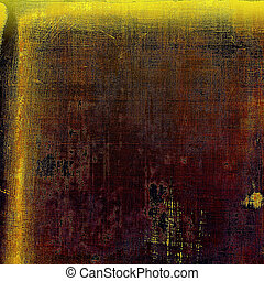 Vintage retro frame or background, old school textured backdrop. With different color patterns: yellow (beige); brown; red (orange); purple (violet); black