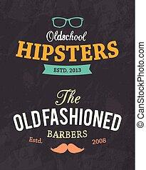 vintage retro hipster badge label