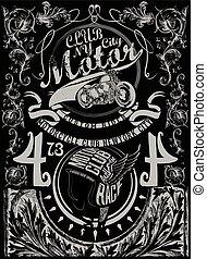 Vintage retro illustration typography t-shirt printing...