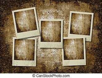 vintage retro instant photo frames