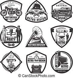 Vintage Retro Labels Set