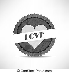 vintage retro love labels