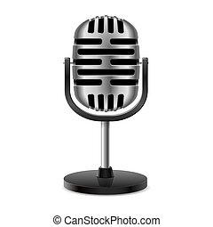 vintage retro microphone
