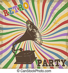 Vintage Retro Party poster