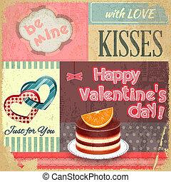Vintage Retro Postcard to the Valentines Day