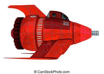 Vintage Retro Space Rocket