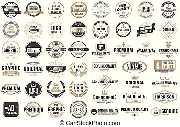 Vintage Retro Vector Labels for banner
