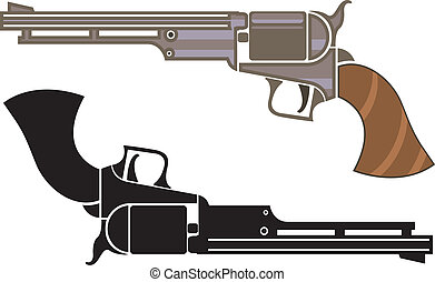 Vintage revolver - vintage revolver illustration clip-art ...