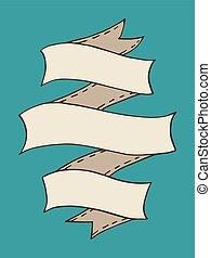 Vintage Ribbon Banner