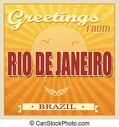 Vintage Rio de Janeiro, Brazil poster - Vintage Touristic...