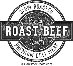 Vintage Roast Beef Deli Sign