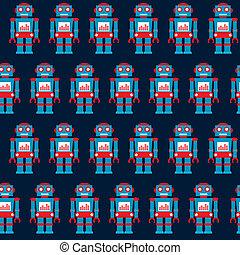 vintage robot background