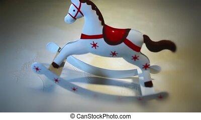 Vintage rocking horse - Vintage old rocking horse close-up...