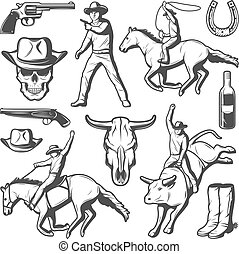 Vintage Rodeo Elements Set