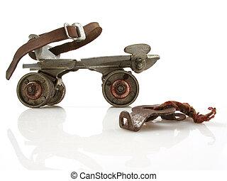 Vintage Roller Skate with Key - Old clamp-on roller skate ...