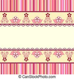 Vintage romantic background. Pink colors. Valentine day