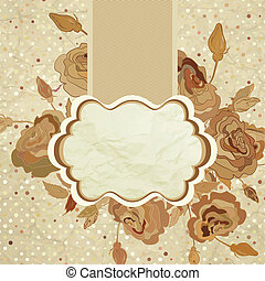 Vintage romantic background with roses. EPS 8
