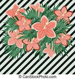 Vintage romantic elegance floral card, vector illustration