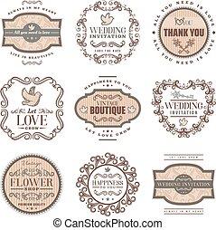 Vintage Romantic Labels Set