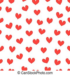 Vintage romantic red hearts.