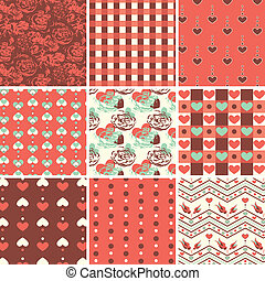 Vintage Romantic Seamless Pattern S