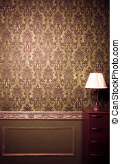 Vintage room interior toned image studio shooting