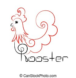 vintage rooster logo with the inscription