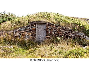 Vintage root cellar storage Elliston NL Canada