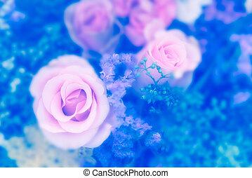 Vintage rose flower bouquet soft background