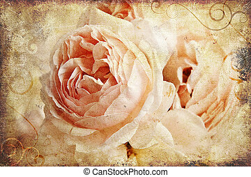 Vintage rose painting - Vintage rose on canvas. Great as a...
