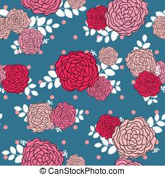 Vintage rose seamless pattern background