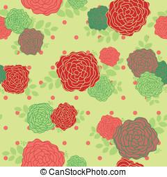 Vintage rose seamless pattern