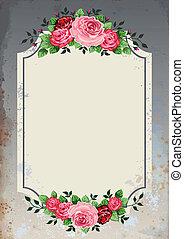 Vintage roses background - Vintage roses vector illustration...