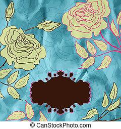Vintage roses illustration. EPS 8
