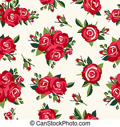Vintage roses pattern, background in retro style for love...
