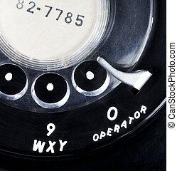 Vintage Rotary Telephone Close-up