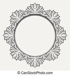 Vintage round baroque frame