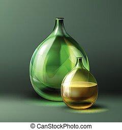Vintage round bottle