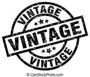 vintage round grunge black stamp