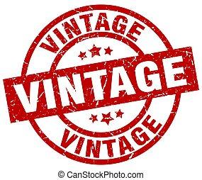 vintage round red grunge stamp