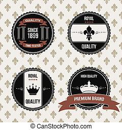 vintage royal labels