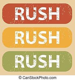 Vintage RUSH stamp set