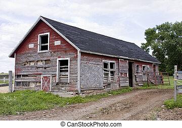 vintage rustic shed