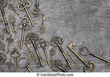 vintage rusty key