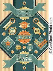 Vintage sale labels